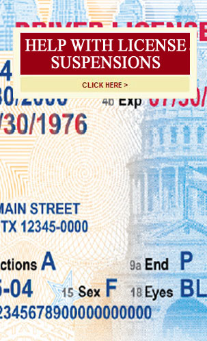 Help with suspended drivers license dallas texas